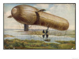 Major Von Perseval's Contribution to Military Aviation Will be Eclipsed by the Zeppelins Giclee Print