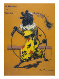 Poodle Wearing Clothes Performs with a Hoop Premium Giclee Print by A. Vitmar