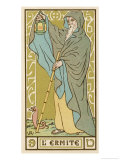 Tarot: 9 L'Ermite, The Hermit Giclee Print by Oswald Wirth