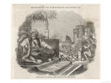 Mehmet Ali Ottoman Viceroy in Egypt Watches on as Mameluke Leaders are Massacred on His Orders Giclee Print