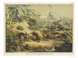 Animals (Including Homo Sapiens) at the Time of the Flood Giclee Print by Ferdinand Von Hochstetter