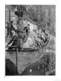 Women and Children Board a Lifeboat on B-Deck Giclee Print