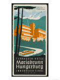 Art Deco Label Fron the Terrassen Hotel Mariabrunn Hungerberg Innsbruck Austria Giclee Print