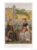 Catherine of Alexandria Reproduction procédé giclée par Margaret Van Eyck
