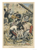 Soldiers Recue the Wounded When an Eathquake Strikes in Midi France Giclee Print
