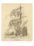 Spanish Galleon Giclee Print