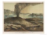 Eruption of the Island of Thira, Formerly Santorin, in the Aegean Giclée-Druck von Ferdinand Von Hochstetter