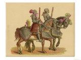 Knights on Horseback Giclee Print