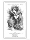 Oscar Wilde, Irish Playwright Cartoon Portrayal Giclee Print