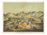 Salt Lake of Kiuk Kiol in the Valley of Karakasch Turkestan Reproduction procédé giclée par Ferdinand Von Hochstetter