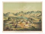 Salt Lake of Kiuk Kiol in the Valley of Karakasch Turkestan Giclée-Druck von Ferdinand Von Hochstetter