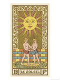 Tarot: 19 Le Soleil, The Sun Giclee Print by Oswald Wirth