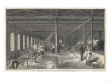 The Grand Junction Railway Locomotive Manufactory at Crewe: The Fitting-Shop Giclee Print