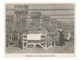 Women at Work in a Power-Loom Factory Lancashire Giclee Print