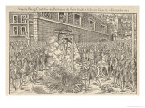 Protestant Magistrate Anne du Bourg Tortured and Hanged by the Catholics Giclee Print by Tortorel & Perissin