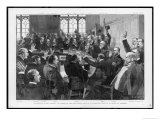 Charles Stewart Parnell is Re- Elected as Leader of the Irish Party in Committee Room 15 Giclee Print by T. Walter