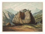 An Erratic Block in the Rhone Valley Giclée-Druck von Ferdinand Von Hochstetter