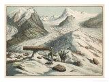 The Mer de Glace in the Alps with Moraines and Debris Giclée-Druck von Ferdinand Von Hochstetter