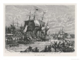 Boston Tea Party 1773 Giclee Print by  Weber
