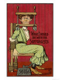 Shuttng up Suffragette Giclee Print