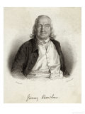 Jeremy Bentham Philosopher and Economist Giclee Print by J. Thomson