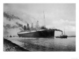 The S S Titanic Leaving Bairds Works Belfast Giclee Print