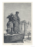 Ibn Batuta Arab Traveller with a Native in Egypt Lámina giclée