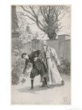 Foundling at Nuremberg Killed by Mysterious Stranger 13 December 1833 Giclée-Druck von Hermann Vogel