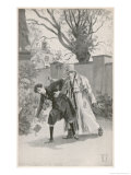 Foundling at Nuremberg Killed by Mysterious Stranger 13 December 1833 Giclee Print by Hermann Vogel