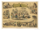 Scenes from the Australian Gold Rush Reproduction procédé giclée par Ferdinand Von Hochstetter