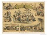 Scenes from the Australian Gold Rush Giclée-Druck von Ferdinand Von Hochstetter
