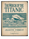 The Wreck of the Titanic, Piano Composition by Jeanette Forrest Giclee Print