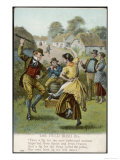 Couple Dance an Irish Jig on the Village Green, Giclee Print