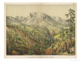 The Dolomites of the Southern Tyrol Reproduction procédé giclée par Ferdinand Von Hochstetter