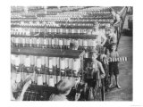 Boys Working in the Olympian Cotton Mills South Carolina Giclee Print