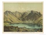 Carpathians: Lake Czarnistan in the High Tatra Mountains of Czechoslovakia Giclée-Druck von Ferdinand Von Hochstetter