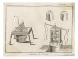 Coining Machines: (L) for Writing on Edge (R) Mill Giclee Print