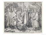 Martin Luther Burns the Papal Bull at Wittenberg Giclee Print by Trenkwald 