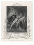 After the Battle of Clontarf Brian Boru is Killed by Brodar a Dane Giclee Print by H. Warren