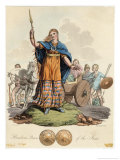 Boadicea (Variously Spelt Eg Boudicca) Queen of the Iceni Wife of Prasutagus Giclee Print by Charles Hamilton Smith