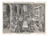Interior View of a Busy Dutch Printing Office Giclee Print