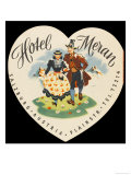 Label from the Hotel Meran Salzburg Austria Giclee Print
