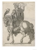 Claudius Nero Caesar Augustus Tiberius Second Emperor of Rome Looking Impressive on Horseback Giclee Print