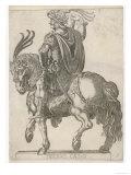 Claudius Nero Caesar Augustus Tiberius Second Emperor of Rome Looking Impressive on Horseback Giclee Print