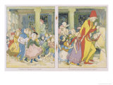 The Pied Piper Leading the Children Away from the Town Giclee Print by Alice B. Woodward