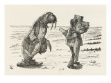 The Walrus and the Carpenter the Carpenter Weeps Giclee Print by John Tenniel