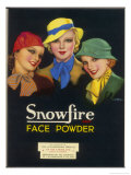Three Girls of the Ginger Rogers Era Who Use Snowfire Face Powder Giclee Print by Wilton Williams