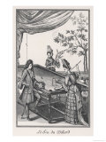 Duchesse de Bourgogne Playing Billiards Giclee Print
