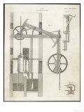 Watt's Steam Engine Circa 1765 Lámina giclée