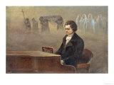 Ludwig Van Beethoven While Sitting at His Piano Beethoven Contemplates His Vision of Death Giclee Print